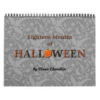 calendario de dieciocho meses de Halloween