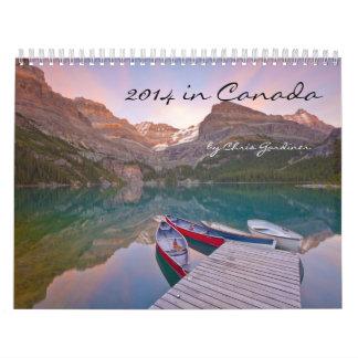 calendario de doce meses 2014 en Canadá Scenics