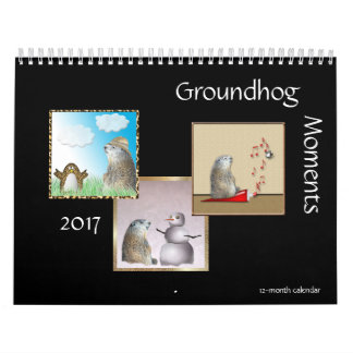 Calendario de doce meses de los momentos 2017 de