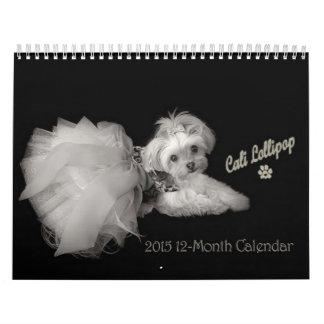 Calendario de doce meses del Lollipop 2015 de Cali