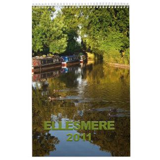 Calendario de Ellesmere Shropshire