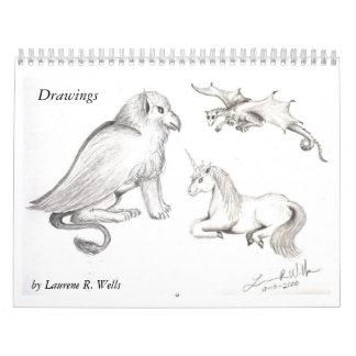 Calendario de encargo 2010 de los dibujos