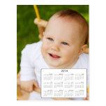 Calendario de encargo de la foto 2014 del tamaño d postales