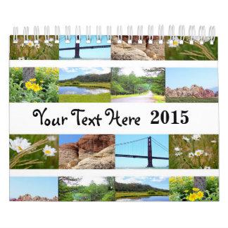 Calendario de encargo de la foto (paisajes