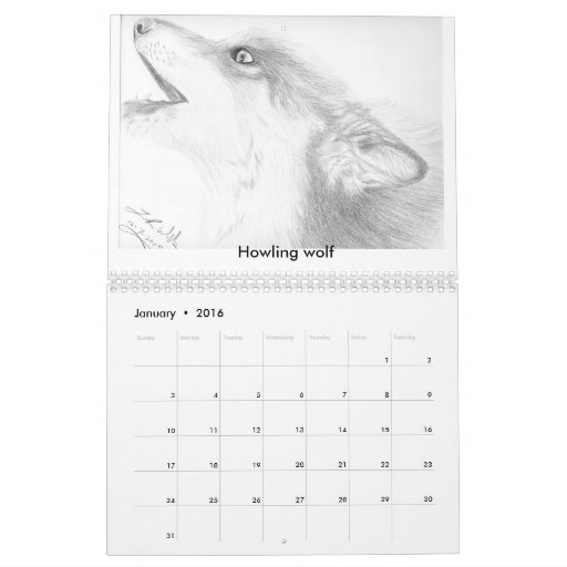 Calendario de encargo de los dibujos