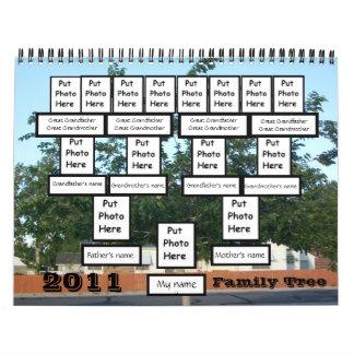 Calendario de encargo del árbol de familia 2011