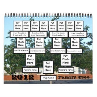 Calendario de encargo del árbol de familia 2012