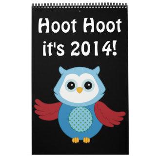 Calendario de encargo del búho 2014