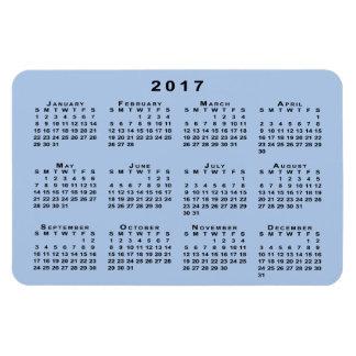 Calendario de encargo del negro 2017 en plantilla iman rectangular