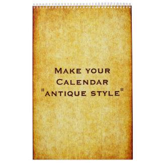 """Calendario de encargo """"ESTILO de la ANTIGÜEDAD"""" +"""