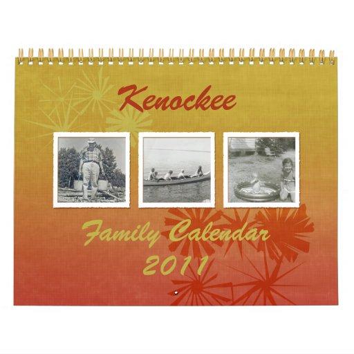 Calendario de encargo floral retro de la foto de
