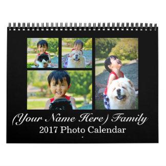 Calendario de encargo personalizado 2017 del