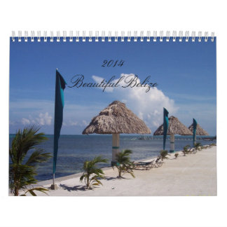 Calendario de encargo que ofrece escenas de Belice