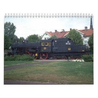 Calendario de Enthusiests del tren