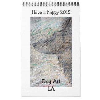 Calendario de escritorio del LA del arte del perro