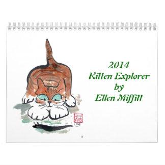 Calendario de Exporer 2014 del gatito de Ellen Mif