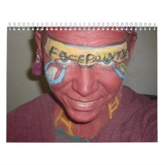Calendario de Facepaint del paisaje