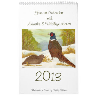 Calendario de Fineart con escenas de los animales