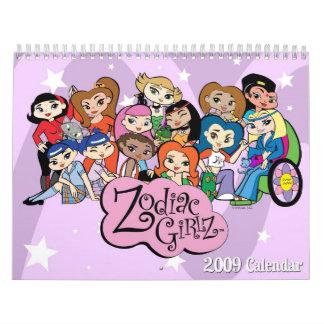Calendario de Girlz 2009 del zodiaco