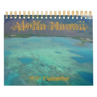 Calendario de Hawaii 2010 de la hawaiana