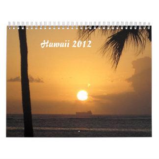 Calendario de Hawaii 2012