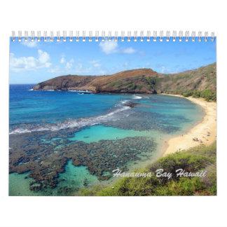 Calendario de Hawaii de la bahía de Hanauma
