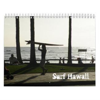 Calendario de Hawaii de la resaca