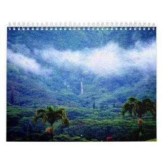 Calendario de Hawaii del valle de Manoa
