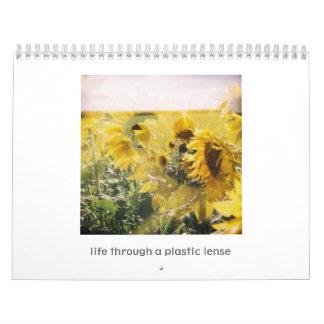 Calendario de Holga Vida a través de un lense plá