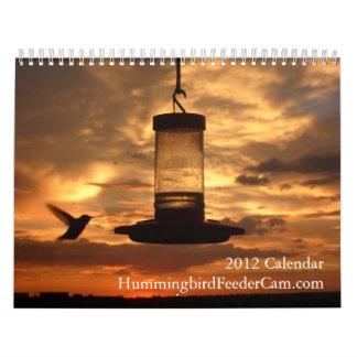 calendario de HummingbirdFeederCam.com 2012