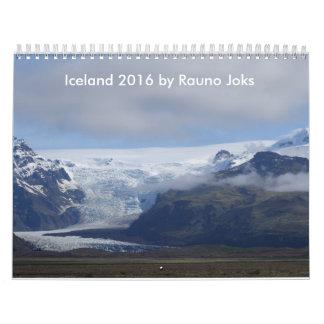 Calendario de Islandia 2016 del viaje de Rauno