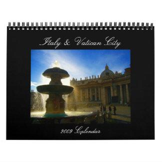 Calendario de Italia y de Vatican 2009