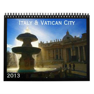 calendario de Italia y de vatican 2013