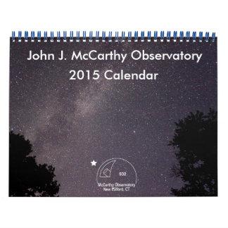 Calendario de Juan J. McCarthy Observatory 2015