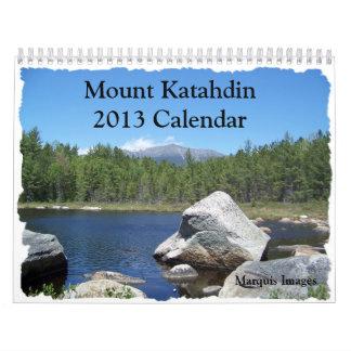 Calendario de Katahdin 2013 del soporte