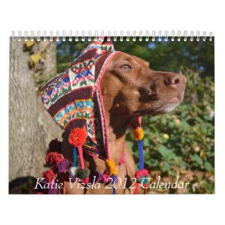 Calendario de Katie Vizsla 2012
