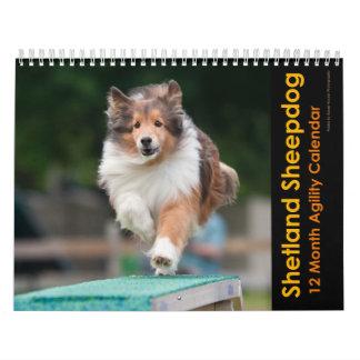 Calendario de la agilidad del perro pastor de