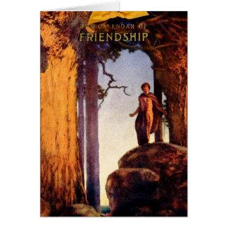 Calendario de la amistad - Maxfield Parrish Tarjeta De Felicitación