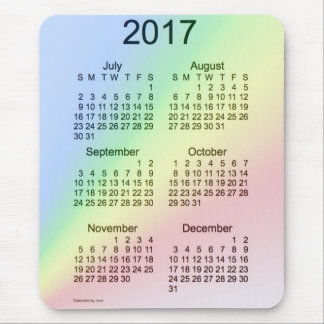 Calendario de la ampliación de foto del arco iris alfombrilla de ratón