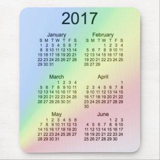 Calendario de la ampliación de foto del arco iris tapetes de ratones