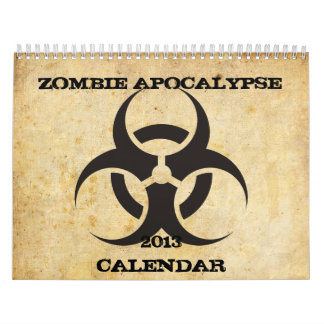 Calendario de la apocalipsis del zombi