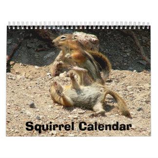Calendario de la ardilla