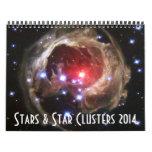 Calendario de la astronomía de espacio de las estr