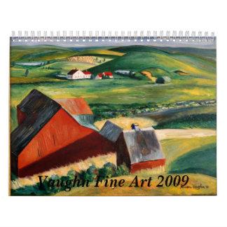 Calendario de la bella arte 2009 de Vaughn