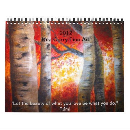 Calendario de la bella arte por el curry 2012   de