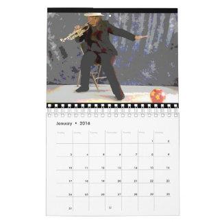 Calendario de la bola de la trompeta [diseño