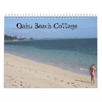 Calendario de la cabaña 2012 de la playa de Oahu