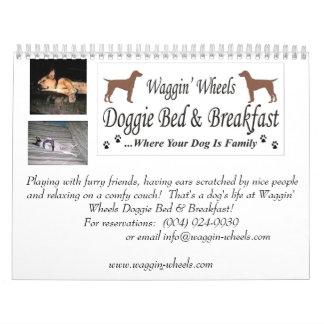 Calendario de la cama y del desayuno