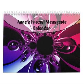 Calendario de la casa de fieras del fractal de