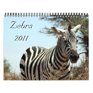 calendario de la cebra 2011